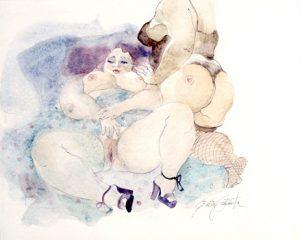 Emilia Castaneda - L'invitation - Aquarelle