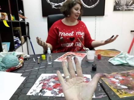 Quand on se met de la peinture plein les doigts