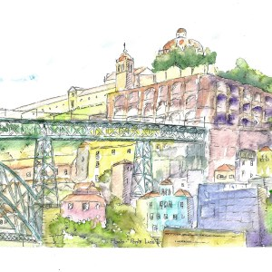 celine-barrier-porto-aquarelle