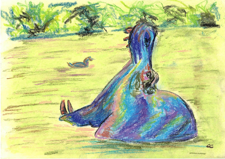 Céline-Caillau---Hippo---pastels---format-A4