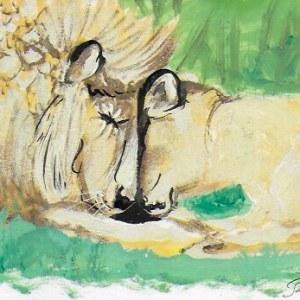 Claudine Santelli – Deux lions