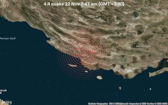 4.4 quake 22 Nov 7:43 am (GMT +3:30)