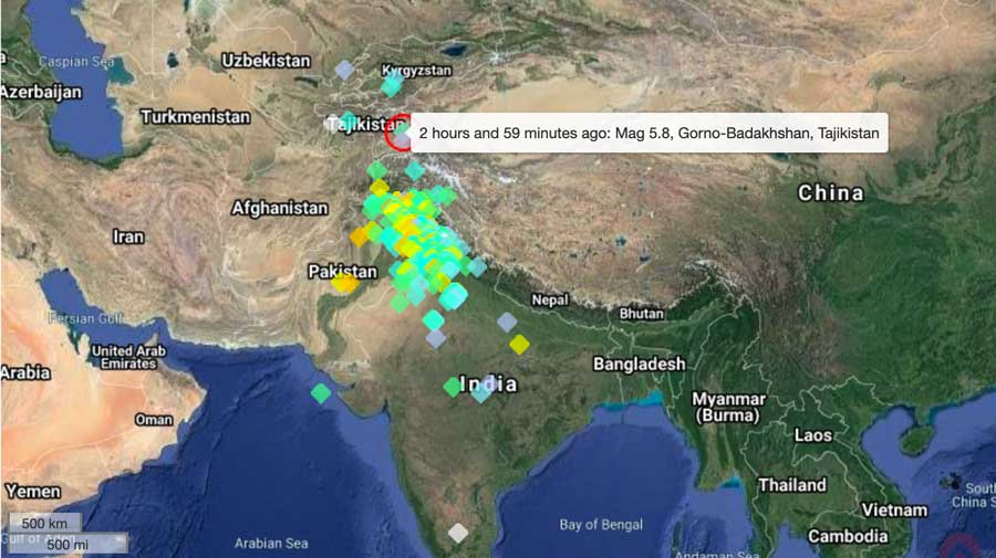 Scary quake may have been felt by millions in Afghanistan, India, Kyrgyzstan, Pakistan and Tajikistan