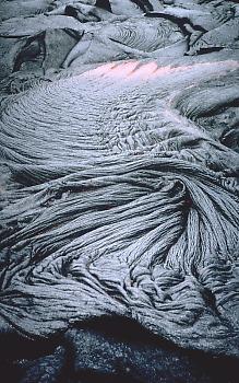 Photo: ropy pahoehoe, Kilauea Volcano, Hawaii