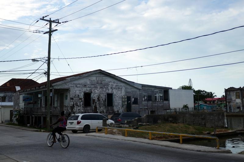 Street scene in Belize City.