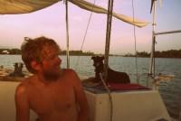 Tom and Diesel on Friend Ship, floating on Lake Izabal.
