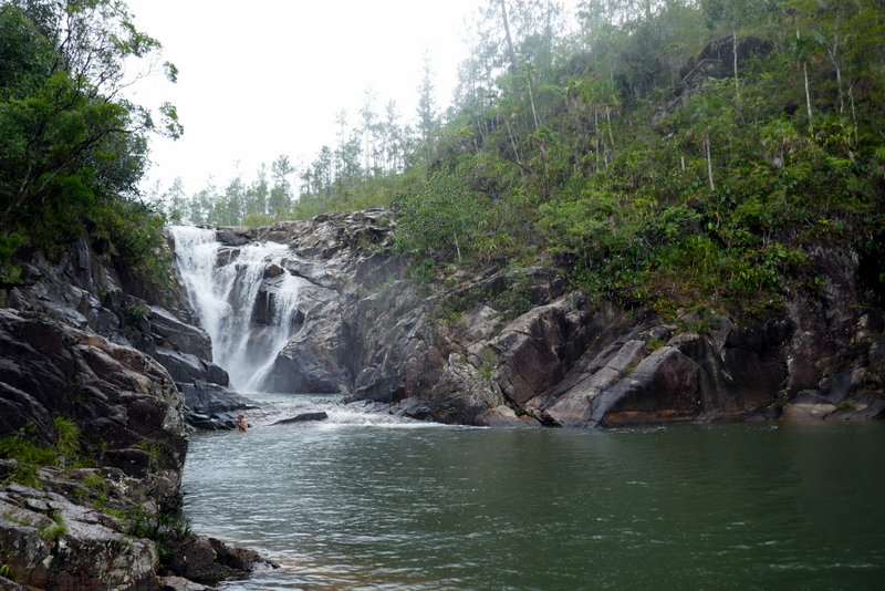 Big Rock waterfall in Belize, Mountain Pine Ridge Reserve.