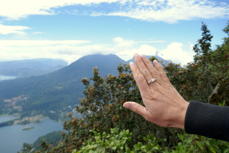 the ring on the summit of volcano San Pedro