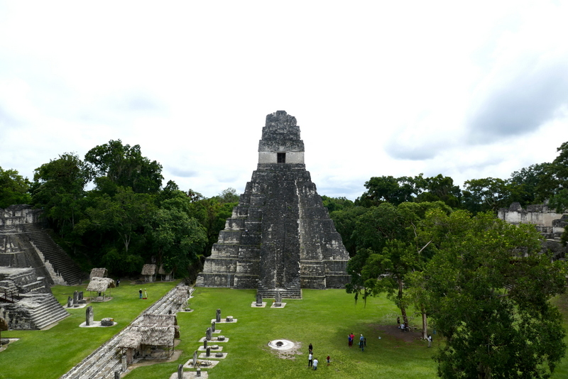 Temple I at Grand Plaza in Tikal national park.