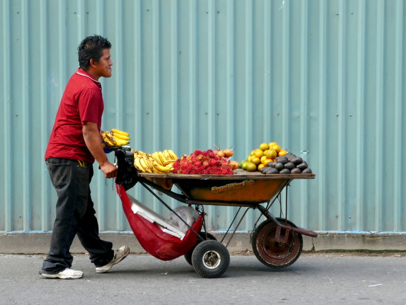 Fruit seller in San Salvador.