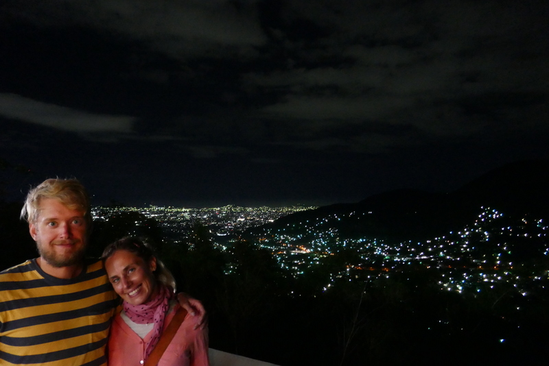City lights of San Salvador.