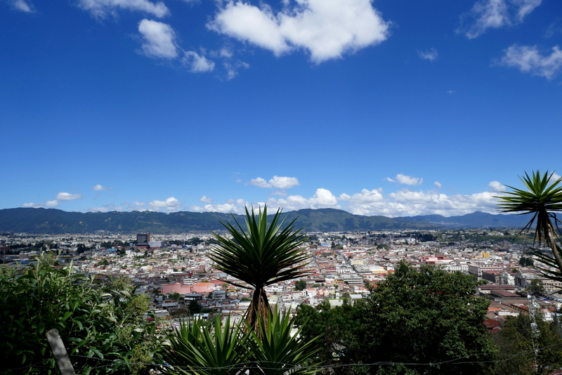 View from Restaurant and Mirador Panorama in Xela.