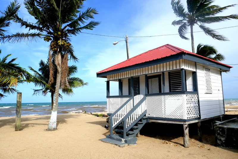 Ruthie's Cabanas: our cabin on the beach in Dangriga, Belize.