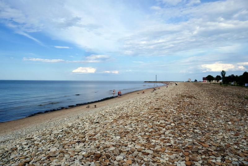 Pebble beach in Toila, Estonia.