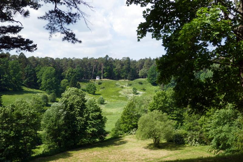 Landscape view in Oru Park, Toila, Estonia.