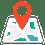 Signo de ubicación en un mapa