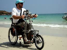Handbike on the beach