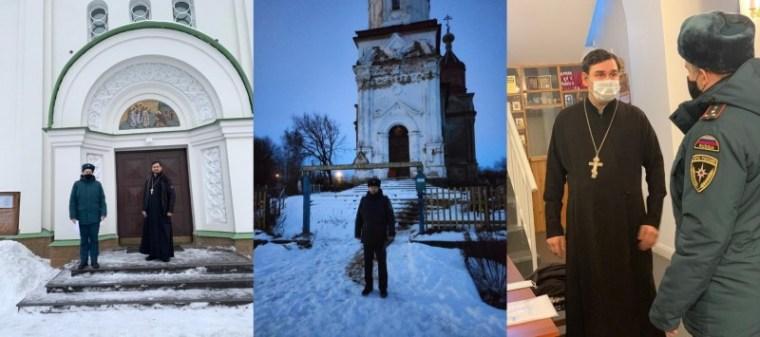 Безопасное Рождество в храмах Волховского района