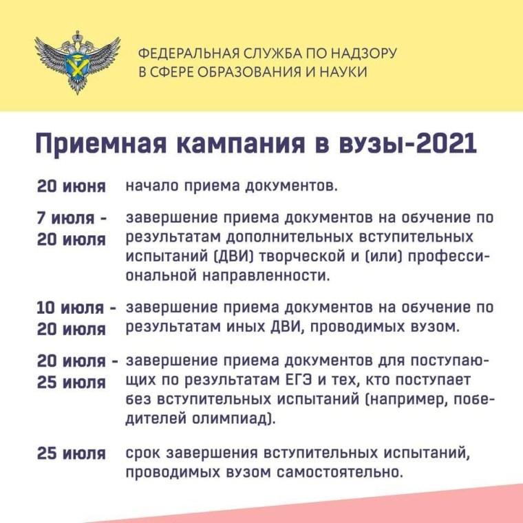 В российских вузах дан старт приёмной кампании