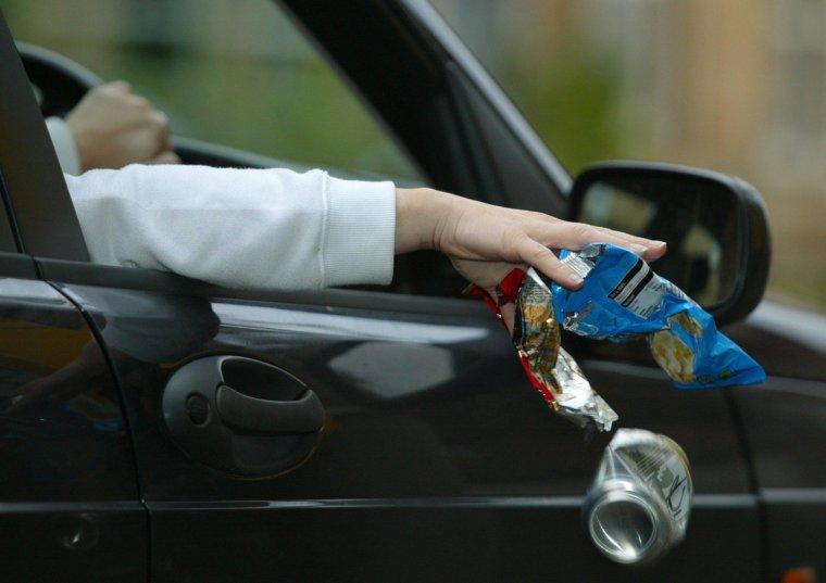 Штраф за мусор из машины