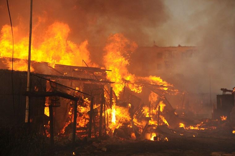 Пожар в Паше