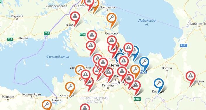 Ремонт областных дорог - на карте