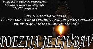 """Poetsko-muzičko veče: """"POEZIJA JE LJUBAV"""""""