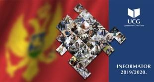 Novo izdanje Informatora UCG za studijsku 2019/2020. godinu