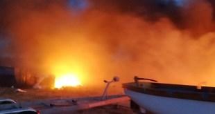 Bar: U velikom požaru izgorjelo nekoliko brodova
