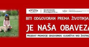 """NVO """"Prijatelji Životinja Podgorica"""" sjutra u Danilovgradu"""