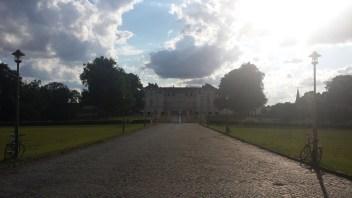 Schloss Augustusburg mit Wolken