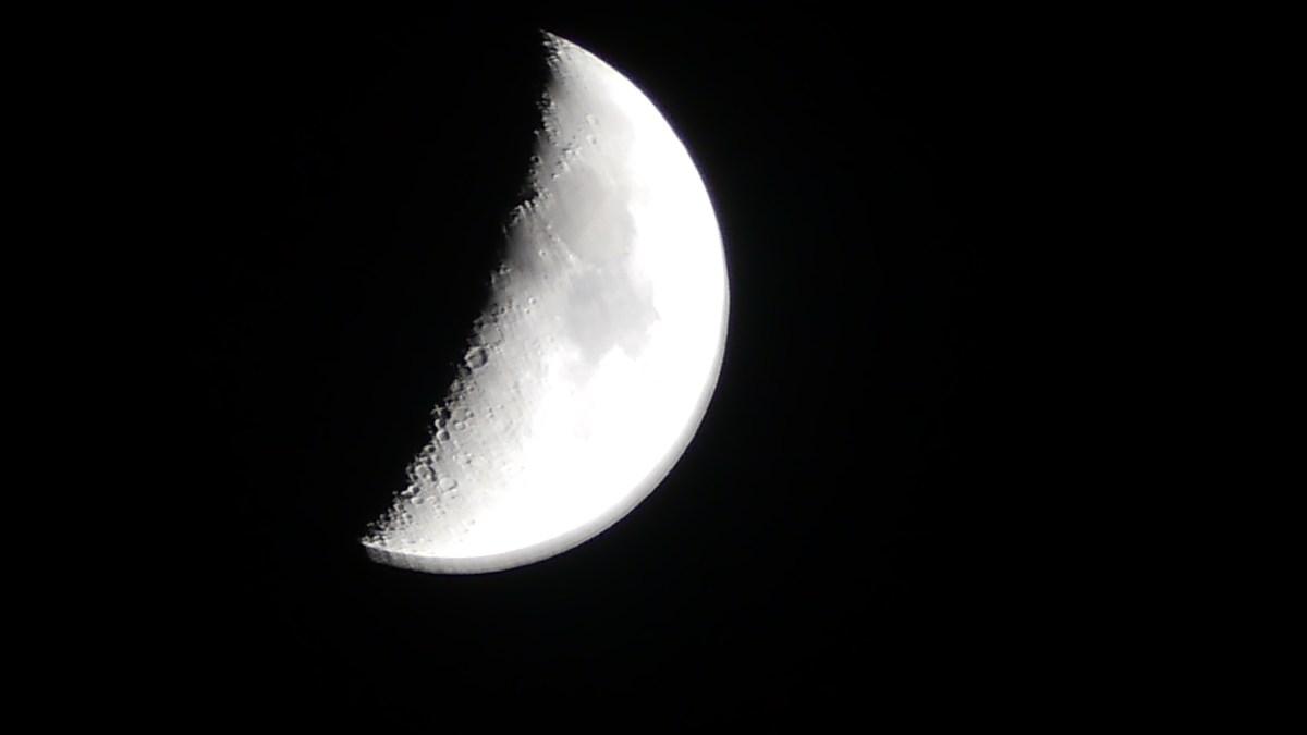 Mond-Schnappschuss… am Nikolaustag