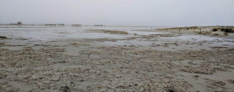 Keine Nordsee sondern nur Watt in St. Peter Ording