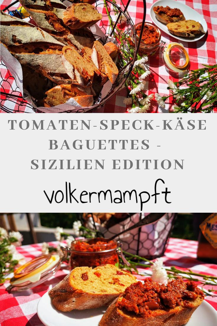 Pinterest Tomaten-Speck-Käse Baguettes - Sizilien Edition