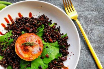 Portulak - Linsen Salat mit Ziegenkäse Muffins