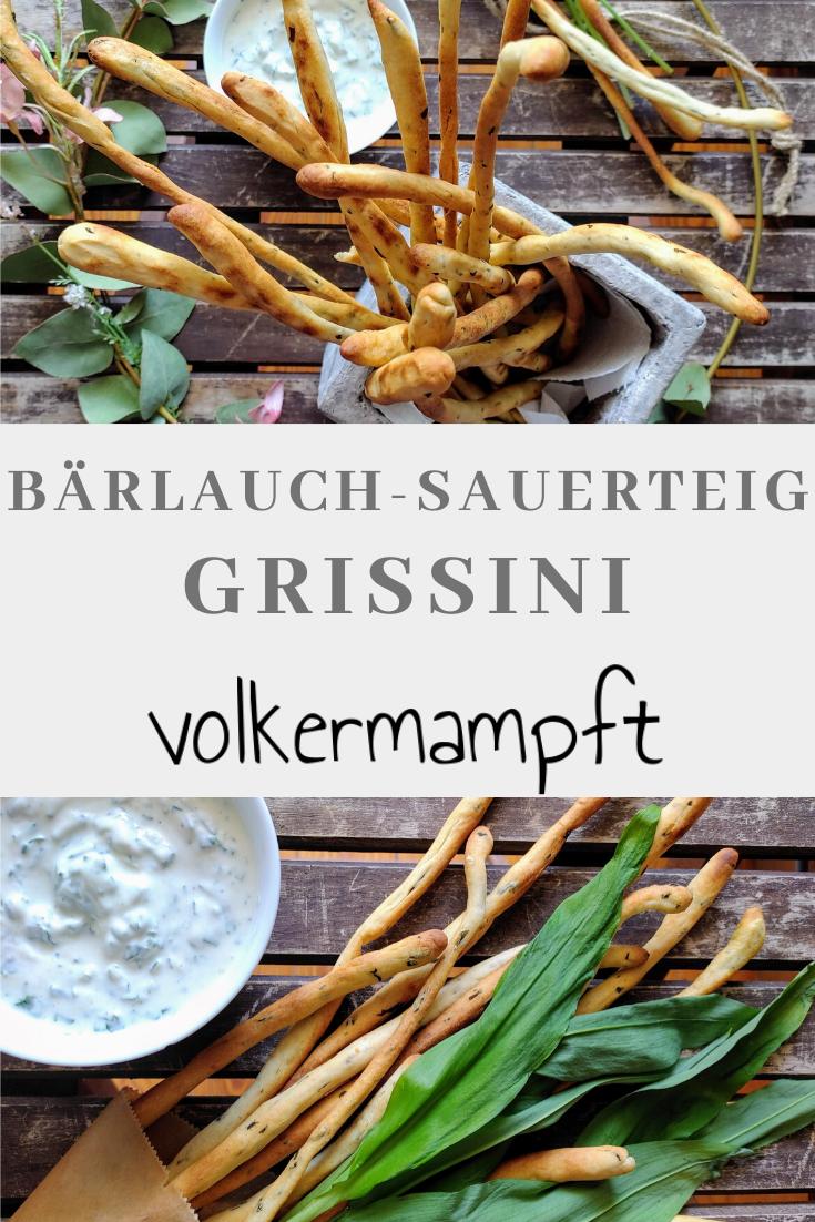 Pinterest Bärlauch-Sauerteig-Grissini