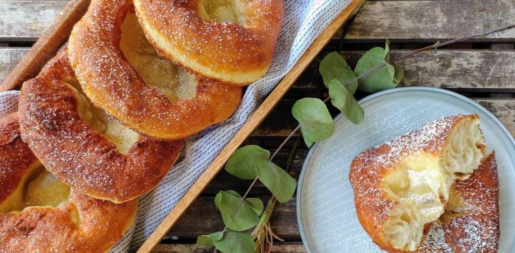 Knieküchle - Fränkische Auszogne Krapfen - gebacken mit Milchkefir