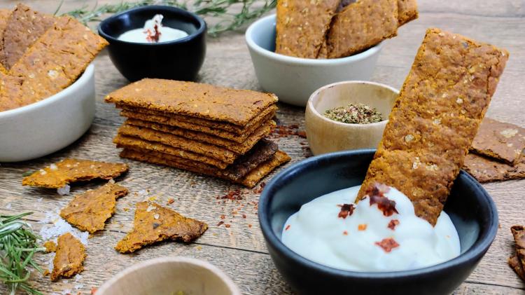 Haferflocken-Möhren Cracker - gesünder Snacken