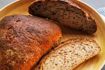 Leinsamen-Ecken - Weizenbrote mit Sauerteig