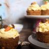Orangen-Moehren Cupcakes mit Orange oder Eierlikoer Frosting-1