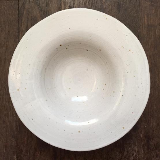 Volkiln White Saraboshi Bowl Handmade Ceramics
