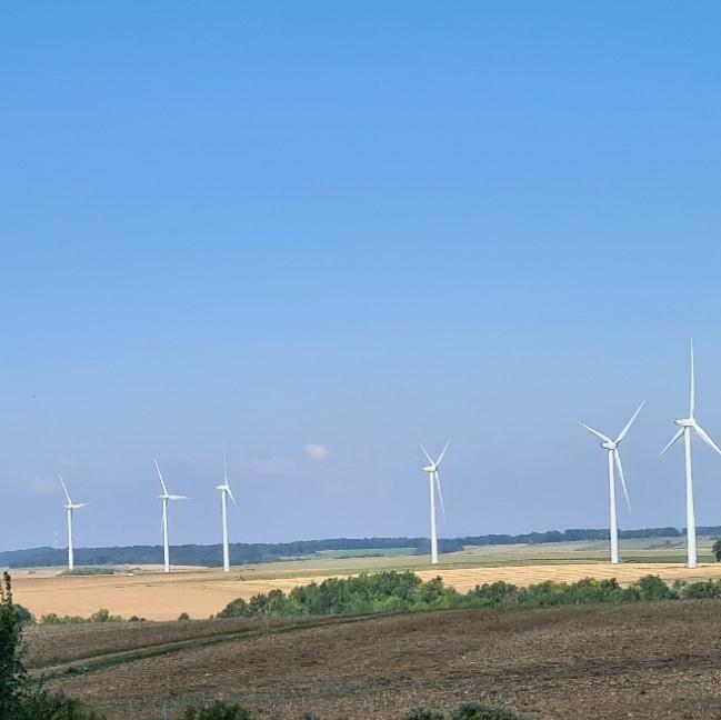 veel gezien in Frankrijk, windmolens