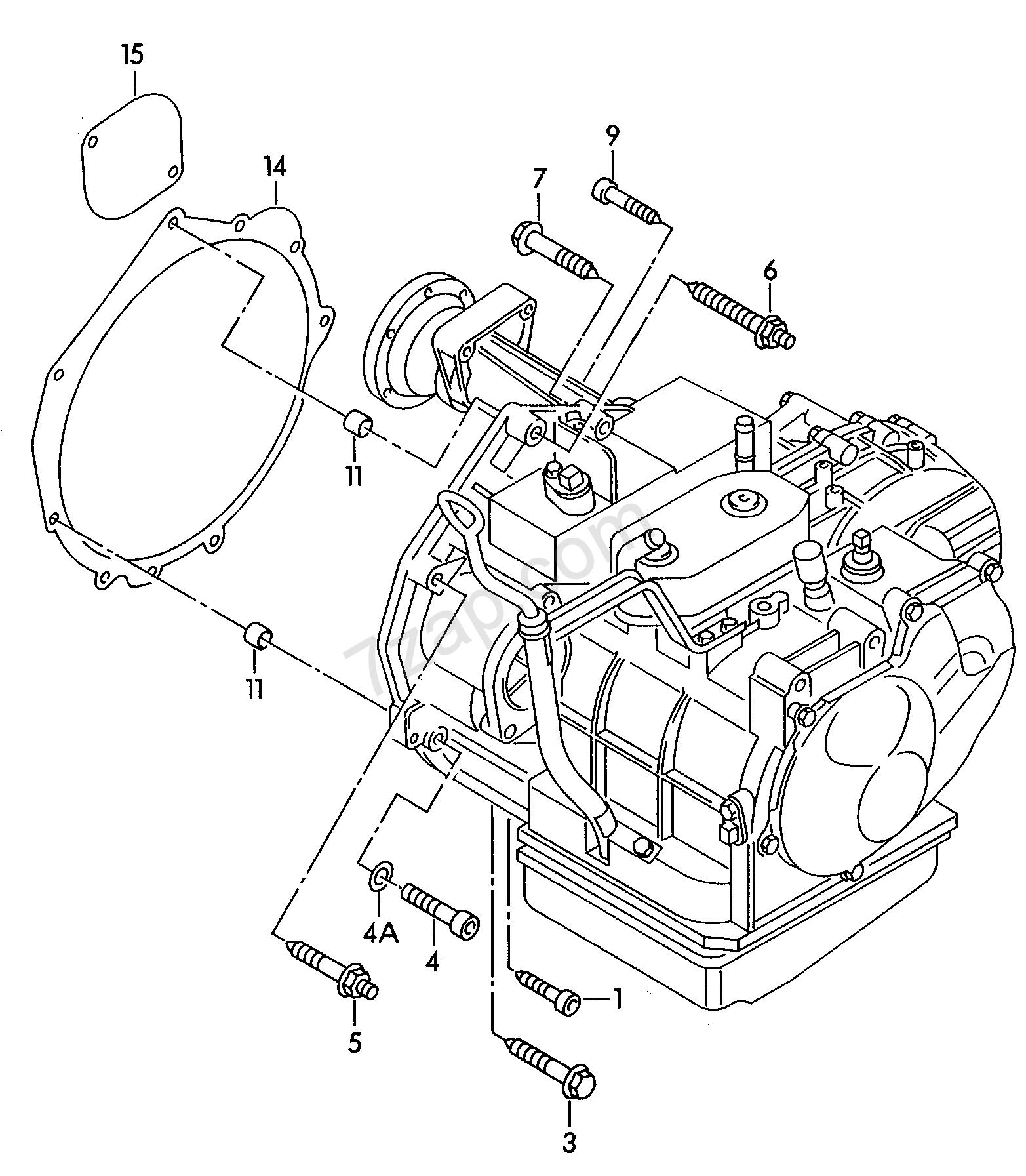 Mounting Parts For Engine And Transmission For 4