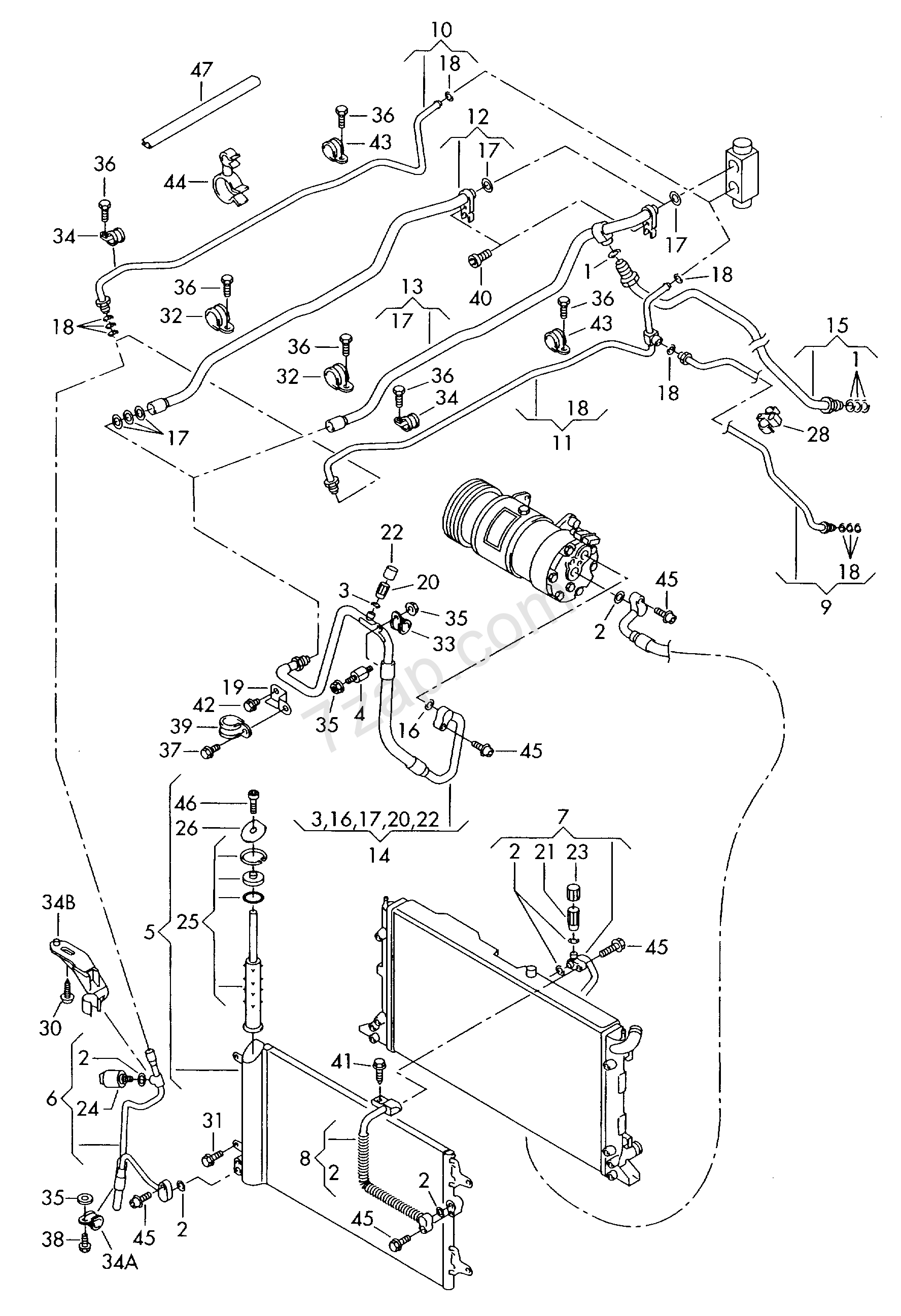 Refrigerant Circuit A C Condenser With Fluid Res