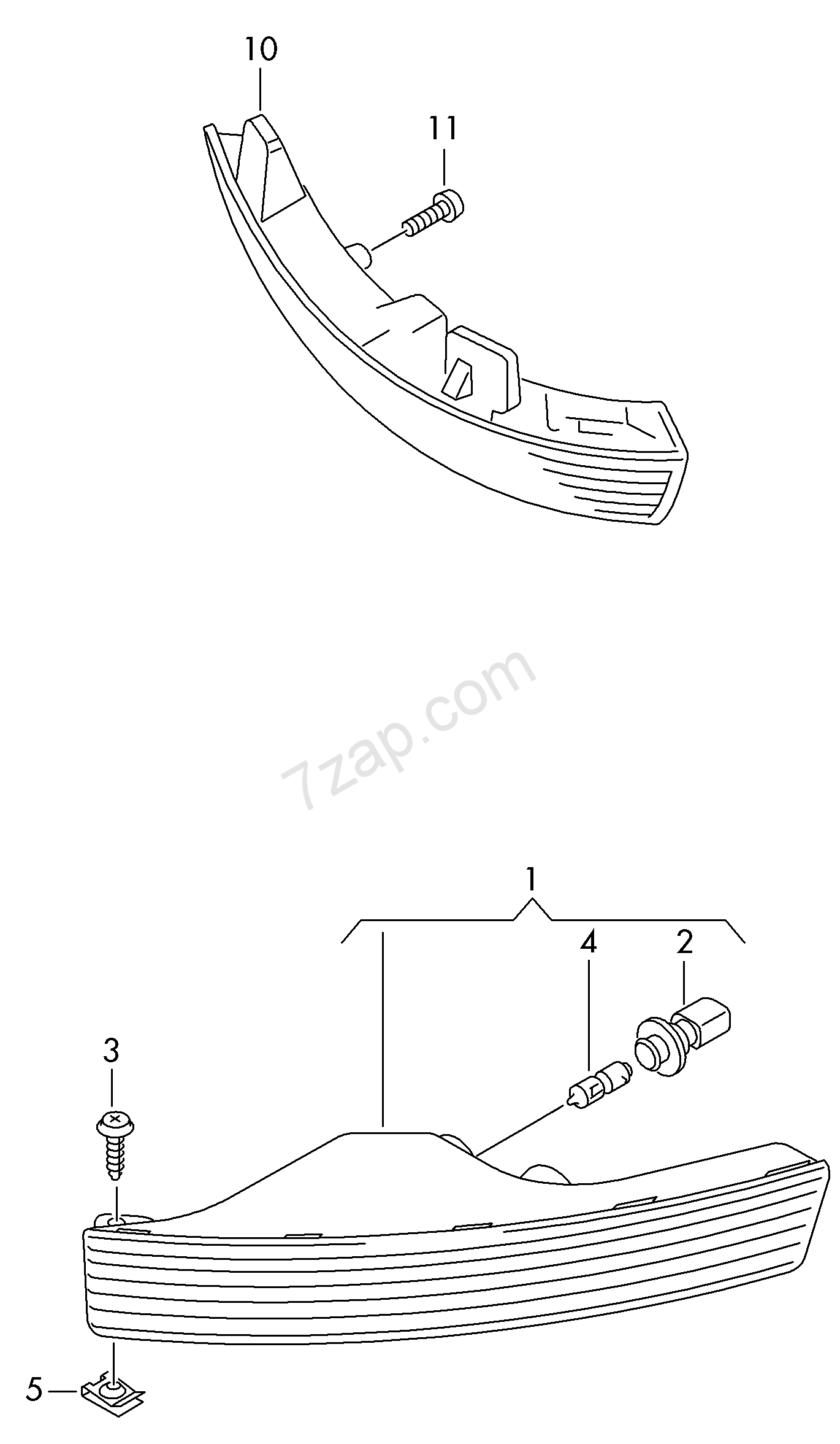 Turn Signal Indicator Exterior Mirror Passat 4motion