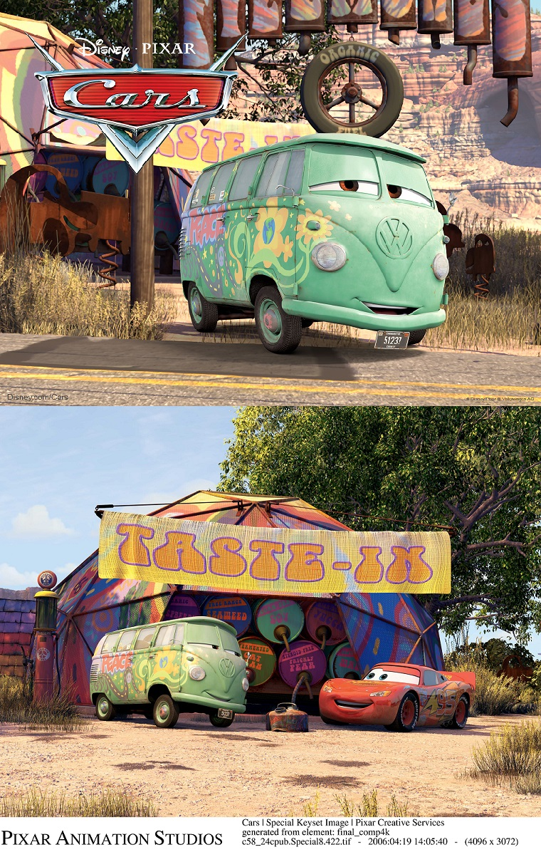 Fillmore Disney Cars Screen Shots VW Bus 1960   Volkswagen Utah Published November 12  2014 at 760      1203 in