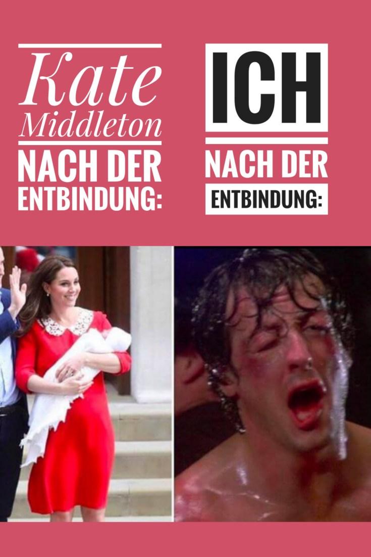 Ein lustiger Spruch zur Geburt, der zeigt, warum Kate Middleton ein Alien ist👽