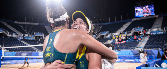 Aussie volleyballers beat World Champions to make Olympic semi-finals