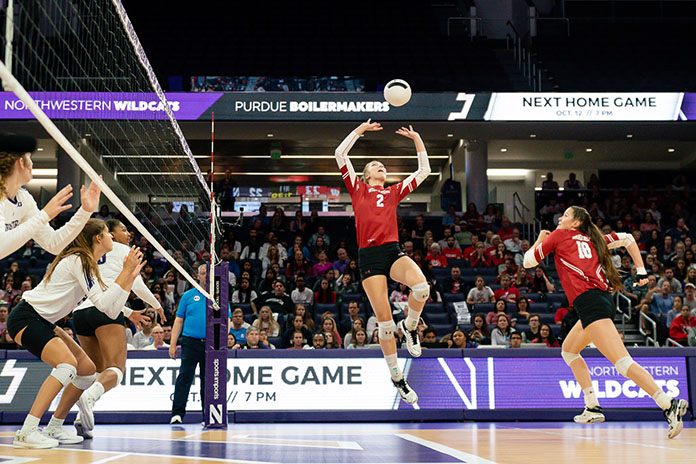 """Volleyball NCAA 10/10/2019-Wisconsin volleyball-Badgers volleyball """"width ="""" 471 """"height ="""" 314 """"srcset ="""" https://i2.wp.com/volleyballmag.com/wp-content/uploads/2019/10/Roundup101019Hilley.jpg?w=1170&ssl=1 696w, https://volleyballmag.com/wp-content/uploads/2019/10/Roundup101019Hilley-300x200.jpg 300w, https://volleyballmag.com/wp-content/uploads/2019/10/Roundup101019Hilley-630x420.jpg 630w """" (maximum width: 471px) 100vw, 471px"""