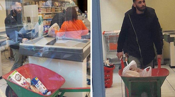 Πήγε για ψώνια με καρότσι οικοδομής για να μην πληρώσει σακούλα!